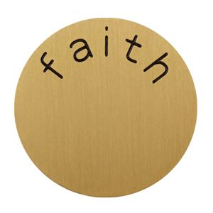 Picture of 'Faith' Large Gold Coin